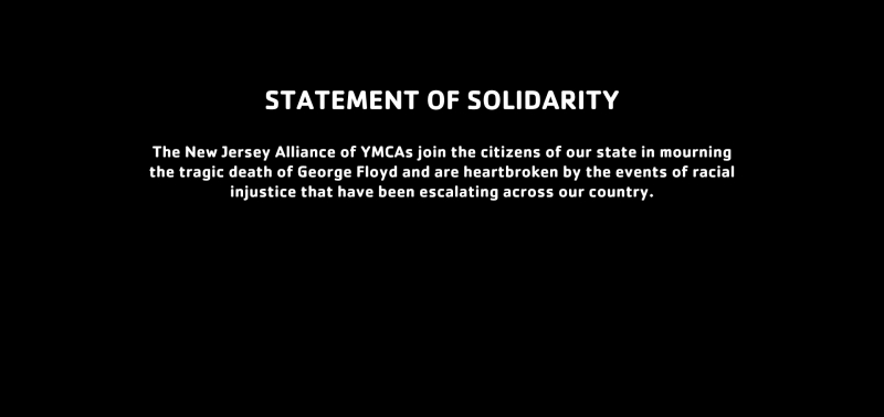 Statement of Solidarity from NJ YMCA State Alliance